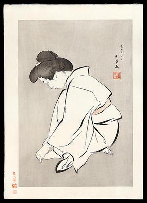 橋口五葉: Woman Cutting Her Toenails - Japanese Art Open Database
