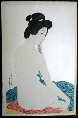 Hashiguchi Goyo: Woman after a Bath — 化粧の女 - Japanese Art Open Database