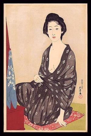 橋口五葉: Woman in a Summer Kimono — 夏衣の女 - Japanese Art Open Database