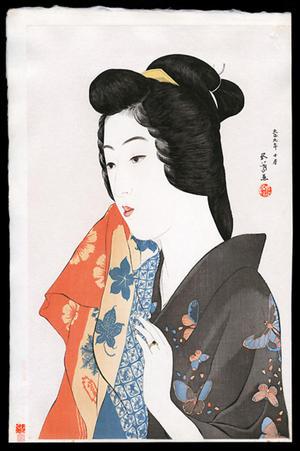 Hashiguchi Goyo: Woman with Hand Towel - Japanese Art Open Database