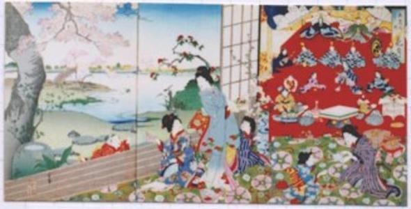 Kawanabe Gyosui: Flower Month- May — 花月 - Japanese Art Open Database