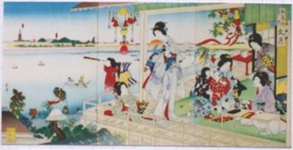 Kawanabe Gyosui: Fumizuki- Seventh Month- July — 文月 - Japanese Art Open Database