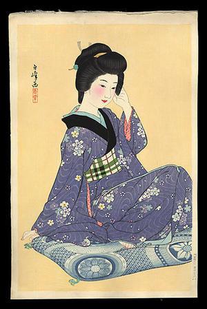 Hakuho Hirano: Young Girl - Japanese Art Open Database