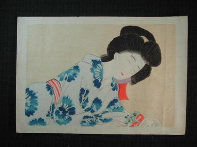Hirezaki Eiho: Tired look - Japanese Art Open Database