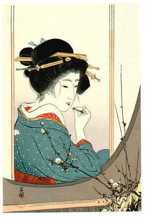 Hirezaki Eiho: Plum Beauty - Japanese Art Open Database