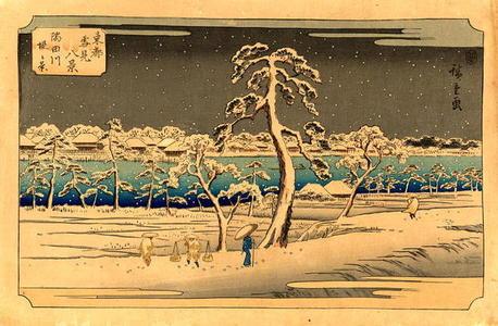 歌川広重: View From the Sumida River Embankment - Japanese Art Open Database