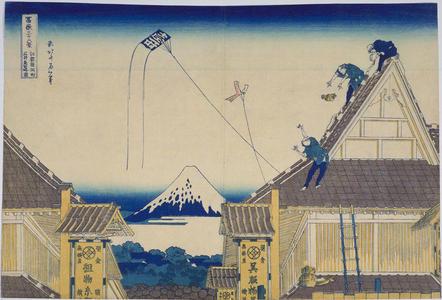 Katsushika Hokusai: Mitsui Store at Surugacho in Edo — 江都駿河町三井見世略図 - Japanese Art Open Database
