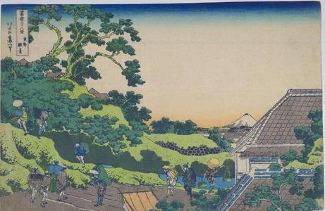 葛飾北斎: Surugadai in Edo — 東都駿台 - Japanese Art Open Database