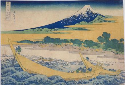 Katsushika Hokusai: The Bay of Tagonoura at Ejiri on the Tokaido Highway — 東海道江尻田子浦略図 - Japanese Art Open Database