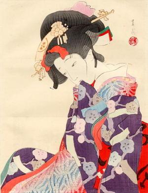Ikeda Shoen: Pensive Bijin - Japanese Art Open Database