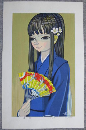 Ikeda Shuzo: Girl With Fan - Japanese Art Open Database