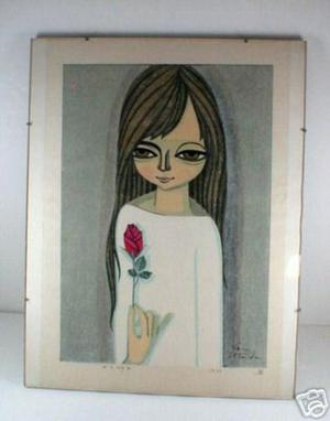 Ikeda Shuzo: Girl with Rose - Japanese Art Open Database