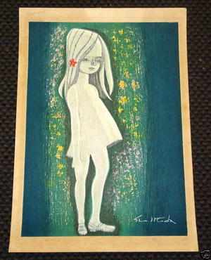 Ikeda Shuzo: Girl with White Hair — 白のけ女 - Japanese Art Open Database