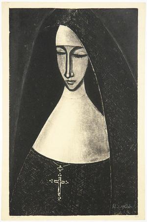 Ikeda Shuzo: No 300- A Catholic nun - Japanese Art Open Database