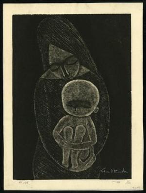 Ikeda Shuzo: No 588 Mother Holding Baby - Japanese Art Open Database