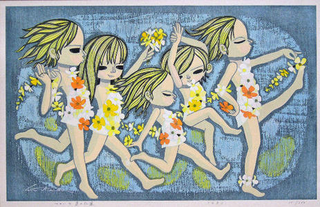 Ikeda Shuzo: Parade of Flowers — フローラ達の行進 - Japanese Art Open Database