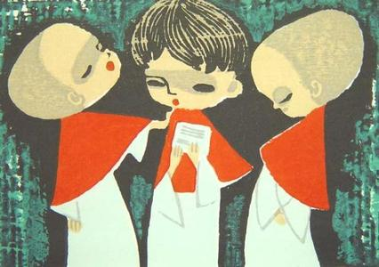 Ikeda Shuzo: Unknown, Choir boys - Japanese Art Open Database