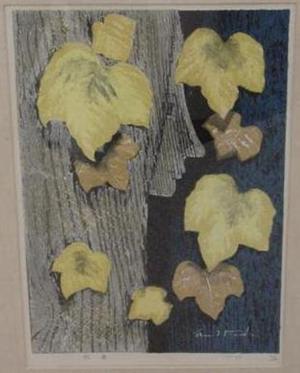 Ikeda Shuzo: Unknown, Face in Tree, Autumn - Japanese Art Open Database