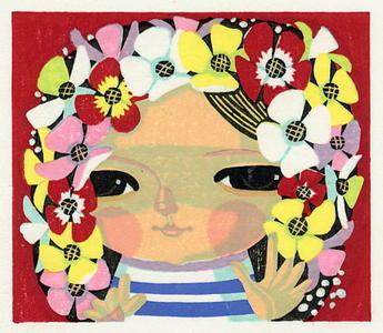 Ikeda Shuzo: Unknown, child and flower vale - Japanese Art Open Database