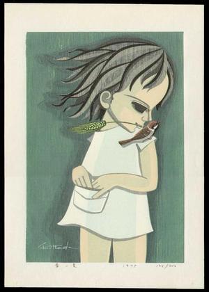 Ikeda Shuzo: Young Girl in Green - Japanese Art Open Database