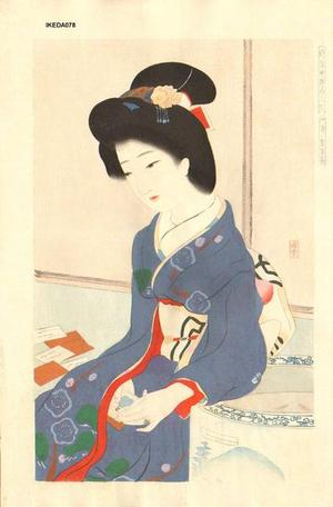 Ikeda Terukata: January - The Game of Poem Cards — 一月賀留多 - Japanese Art Open Database