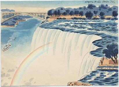 Ito Nisaburo: Niagara Falls - Japanese Art Open Database