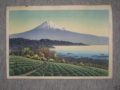 Henmi Takashi: Fuji from tea farm - Japanese Art Open Database
