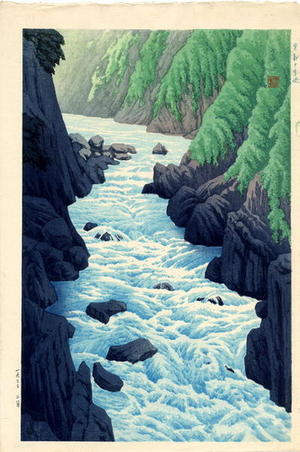 逸見享: Guji Gorge At Kurobe - Japanese Art Open Database