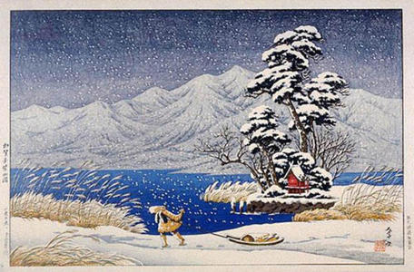 Henmi Takashi: Lake Shibayama in Kaga - Japanese Art Open Database