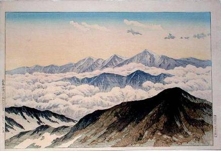 Henmi Takashi: Tateyama Mountains from White Horse Peak (Hakuba Peak) - Japanese Art Open Database