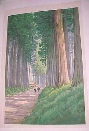 Ito Yuhan: Avenue of Cryptomeria in Nikko - Japanese Art Open Database