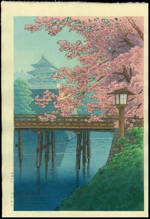 Ito Yuhan: Cherry Blossoms and Castle - Japanese Art Open Database