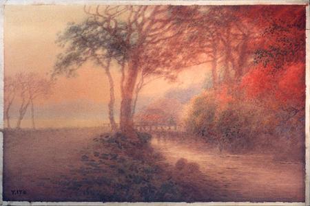Ito Yuhan: Countryside in Sunlit Haze - Japanese Art Open Database