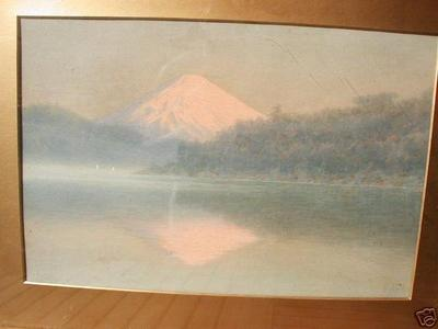 Ito Yuhan: Mt Fuji and lake - Japanese Art Open Database