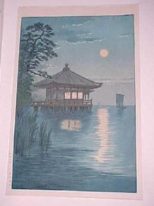 Ito Yuhan: Ukimido at Katada, Biwa - Japanese Art Open Database