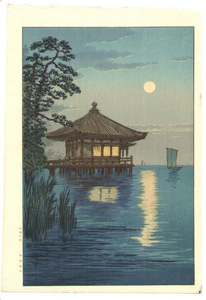 Ito Yuhan: Ukimido at Katada, Biwa - Japanese Art Open Database