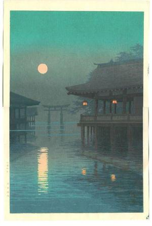 Ito Yuhan: Moon Over Miyajima - Japanese Art Open Database