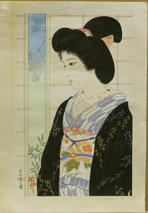 Iwata Sentaro: Beauty and Nandina - Japanese Art Open Database