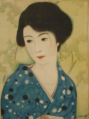 Iwata Sentaro: Bijin in Yukata - Japanese Art Open Database