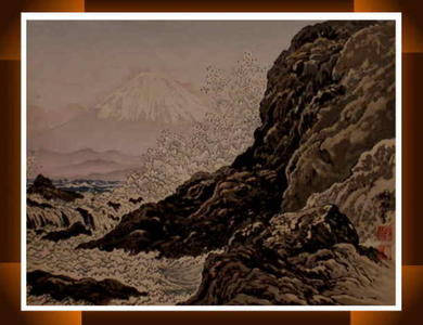 Jokata Kaiseki: Fuji from Mitsu Coast- Fuji from Enoshima — 三津海岸からの富士 - Japanese Art Open Database