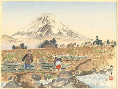 Jokata Kaiseki: Fuji from Sano Village — 佐野の富士 - Japanese Art Open Database