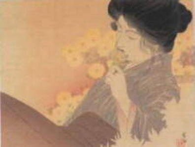 梶田半古: The Scent of Chrysanthemums — 菊のかおり - Japanese Art Open Database