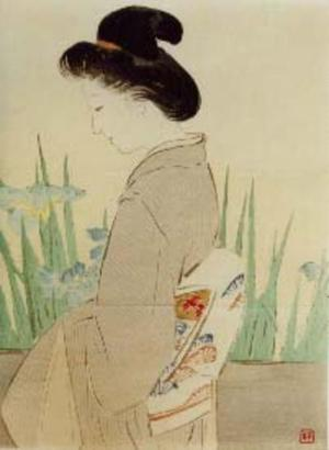梶田半古: Yatsubashi — 八ッ橋 - Japanese Art Open Database