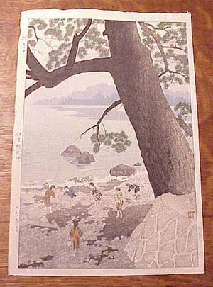 笠松紫浪: Calm Morning On Cape Ajiro, Izu Province - Japanese Art Open Database