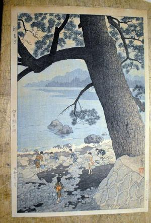 Kasamatsu Shiro: Calm Morning On Cape Ajiro, Izu Province - Japanese Art Open Database