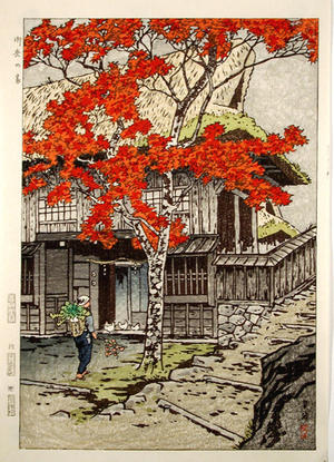 笠松紫浪: House in Ontake - Japanese Art Open Database