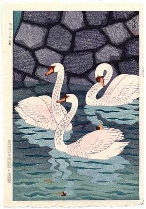 笠松紫浪: Spring at the Moat (Ohari no Haru) - Japanese Art Open Database