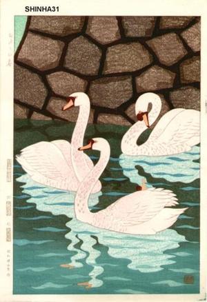 笠松紫浪: Spring at the Moat (Ohari no Haru) - Japanese Art Open Database