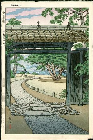 笠松紫浪: Tokyos famous garden- Rokugi Koku, middle entrance - Japanese Art Open Database
