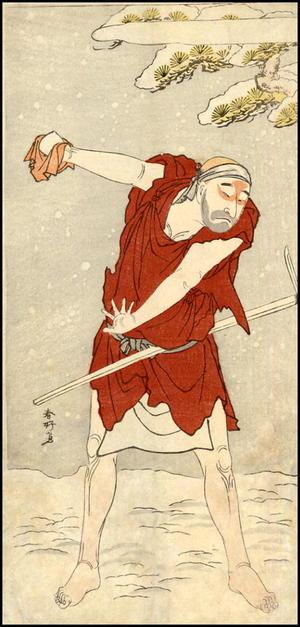 Katsukawa Shunko: Actor Onoe Matsusuke I as a mendicant monk - gannin bozu - Japanese Art Open Database